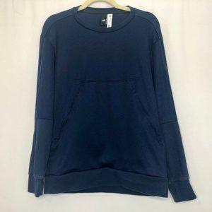 ADIDAS Navy Blue Activewear Sweatshirt Men's Med